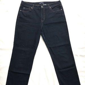 👖Dark Wash Regular Length Straight Leg Jeans